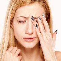 Мерцание в глазах и головная боль