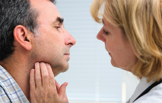 Осмотр при раке горла